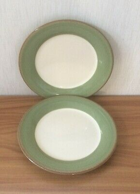 2x  BHS Brecon Green  - 10.5   Dinner Plate  • 1.99£
