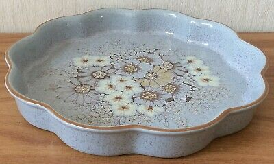 Denby Reflections 9 3/4  Fluted Flan Dish In Very Good Condition • 1.99£