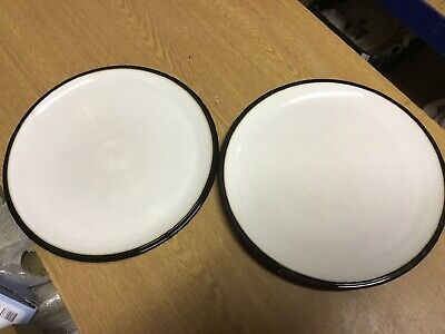 Denby - Everyday - Black Pepper - Dinner Plates X 2 • 17.99£