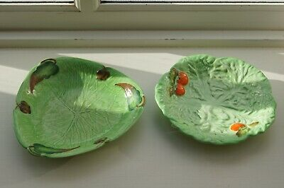 Two Vintage Carlton Ware Green Dishes • 6.40£
