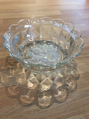 Vintage Large Desert/trifle/fruit Heavy Glass Bowl Very Good Condition • 3.95£