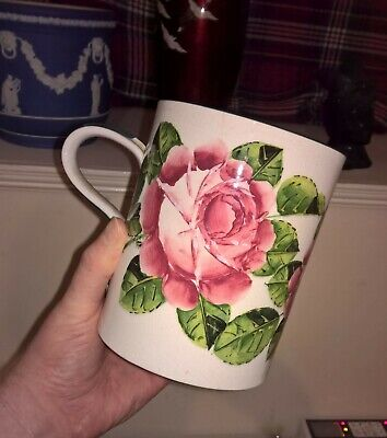 Antique Wemyss Pottery Large Cup C1900 Cabbage Rose Pattern Fully Marked • 20£
