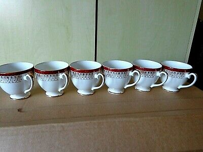 * 6 Royal Grafton  Majestic Red   Coffee Cups Only (no Saucers) -  Free Uk Post • 12.99£