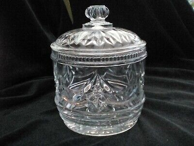 Storage Jar/canister With Lid, Clear Pressed Vintage Glass, Crystal-style Decor • 8£