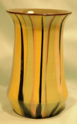 Babbacombe Pottery Multicoloured Vase 142 Mm Tall In Very Good Condition • 8£