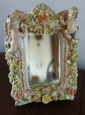 Beautiful Meissen  Free Standing Mirror 8x6 Inches  • 27£