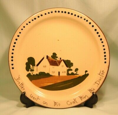 Watcombe Pottery Cottageware Plate 9 Inches With Motto In Good Condition • 8£