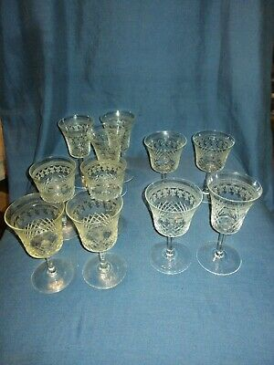 11 Antique Lady Hamilton Pall Mall Sherry/Port Glasses, 6 Different Styles. • 16£