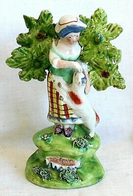 Early C19th Walton Staffordshire Figure Before Bocage • 40£