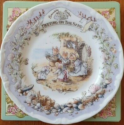 Royal Doulton Bramley Hedge  Meeting On The Sand  Plate • 13.50£
