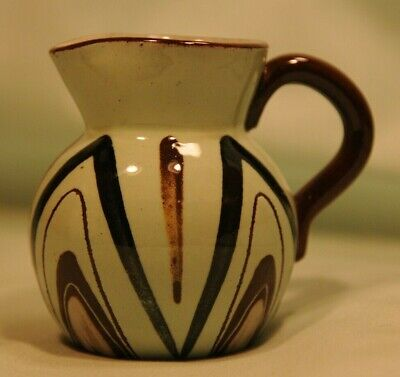 Babbacombe Pottery Little Jug Green With A Stripe Pattern Good Condition • 6£