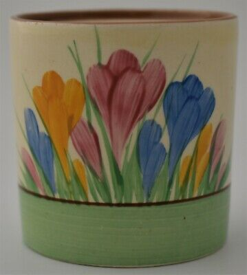 Attractive Clarice Cliff Spring Crocus Pot - Art Deco Pottery (Flowers / Floral) • 69£