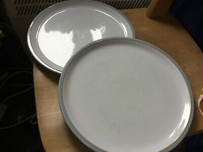 Denby Cool Blue Dinner Plates X 2 Used • 17.99£