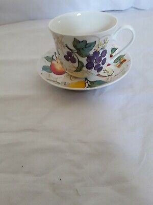 ROY KIRKHAM Fine Bone China Breakfast Cup & Saucer Set ORCHARD FRUIT  • 18.99£