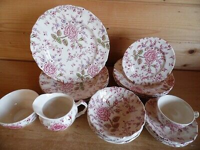 Johnson Brothers Rose Chintz Replacement Tableware With Multibuy Discounts • 7.95£