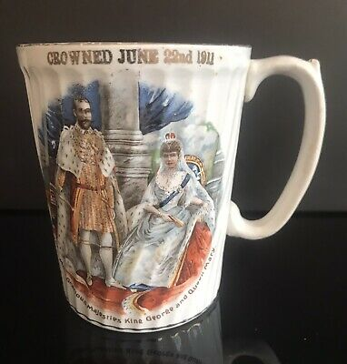 Antique Mug 1911 Celebrating The Coronation Of King George V And Queen Mary • 10.50£