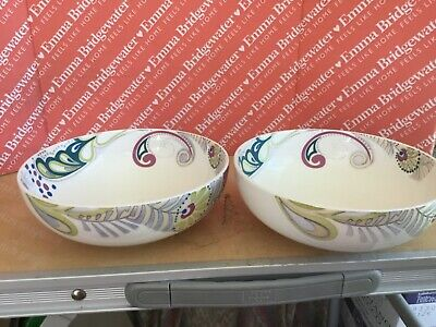 Denby Cosmic Cereal Bowls X 2 Used Diameter 6.25 Inches • 9.99£