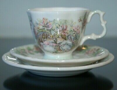 Brambly Hedge Miniature Summer Trio Ist Quality Cup, Saucer & Plate • 12.50£