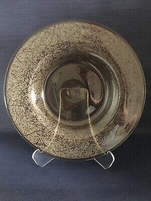 Daum, Nancy:  Massive Acid Etched Smoked Glass Charger, Signed C.1930 • 195£