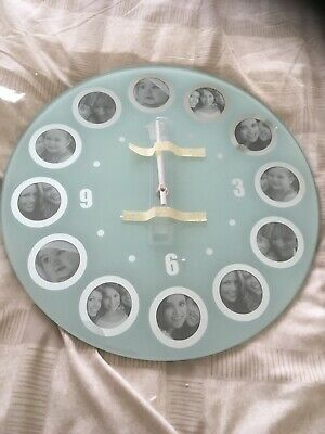 Brand New Glass Clock With Photo Frames • 4£