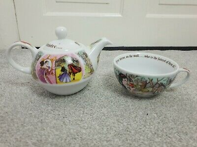 Cardew Snow White Tea For One Teapot & Cup Set • 18.95£