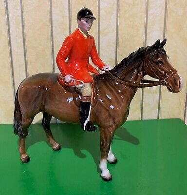 BESWICK HORSE HUNTSMAN ON HORSE  MODEL No. 1501 STYLE 2  BROWN GLOSS PERFECT • 195£