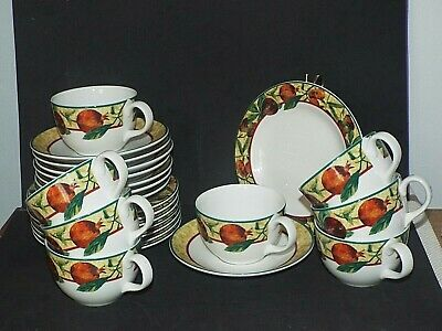 Royal Doulton Everyday China Augustine TRIO`s CUPS SAUCERS TEA PLATES SET OF 8 • 39.99£