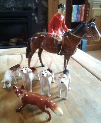 Beswick Huntsman With Four Hounds And A Fox Xx • 280£