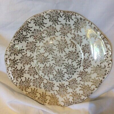 Vintage Royal Vale Chintzy Gilded Cake Plate • 6.99£