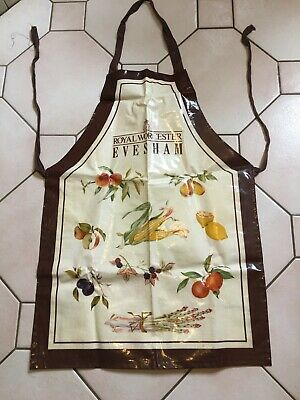 Vintage Oilcloth PVC Apron Collectable Royal Worcester Evesham  • 4.99£