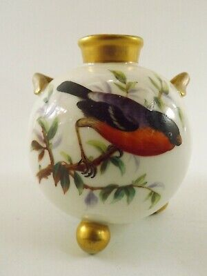 Antique Royal Worcester Twin Handled Vase / Hand Painted Birds Dated 1879 R 322  • 10.50£