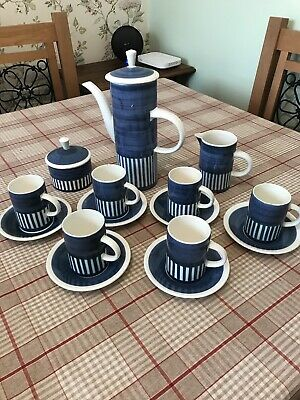 Vintage Cinque Ports Rye Full Coffee Set - Blue • 6.50£