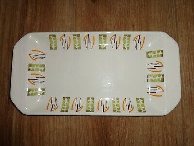 Beswick England Geometric Design 1977 Sandwich Biscuit Plate, Ex Con • 14.99£