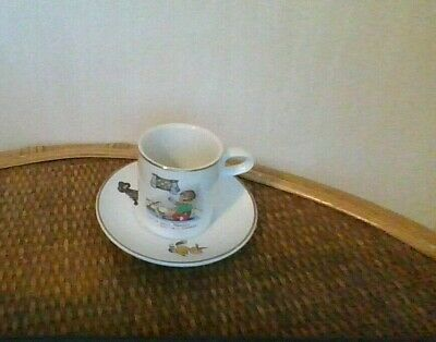 A Small Pottery Little Jack Horner Cup And Saucer, Made In England • 1.50£