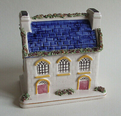 Antique Staffordshire Pottery House / Cottage Money Box In Pratt Style Colours • 14.99£