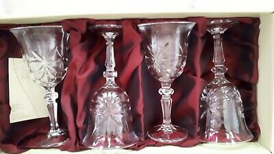 4 Galway Crystal Monaghan Wine Goblets • 10£