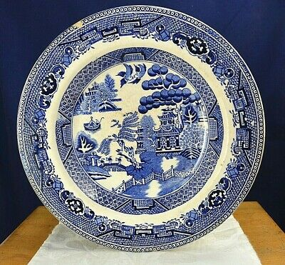 Antique Transfer Dish Willow Pattern Ware Pottery Soup Deep Plate Vintage Old • 2.90£