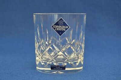 Edinburgh Cut Crystal Whisky Glass - With Labels - More Available! • 14.50£