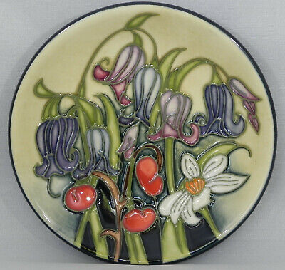 Moorcroft WILD MEADOW Small Pin Dish/Tray 12cm. Ratchel Bishop, Excellent • 75£