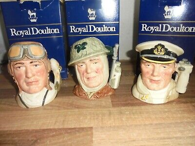 Royal Doulton Character Jug - Armed Forces Series- Airman ,  Soldier , Sailor • 69.95£
