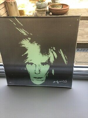 Andy Warhol Rosenthal Self Portrait Glass Plate Signed Rare In Perfect Condition • 64.99£