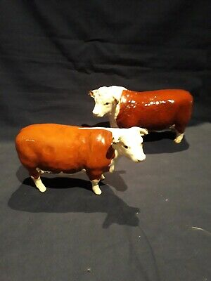 Beswick Hereford Bull And Cow Perfect Condition  • 110£