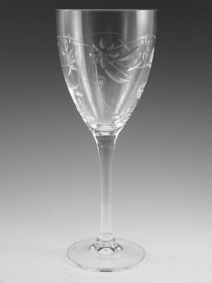 Royal DOULTON Crystal - JASMINE Cut - Wine Glass / Glasses - 8 1/4  • 27.99£