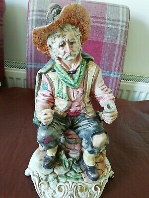 Capodimonte 12 Inch Figure No 1428/A Lovely Detail Excellent Condition • 35£
