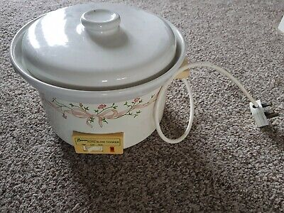 Eternal Beau Slow Cooker By Swan Ceramic Kitchen Pottery White. • 7£
