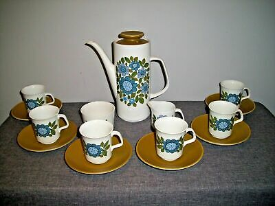 Vintage Mid-Century J&G Meakin Studio Pottery Coffee/Tea Set (Retro 1960's) • 74.95£