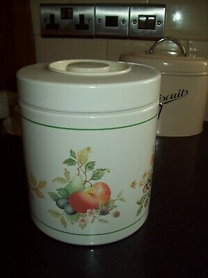 Johnson Brothers Fresh Fruit Biscuit Barrel By Brabantia - Rare & Excellent • 4.19£
