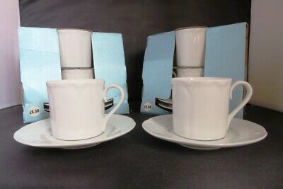 MARKS & SPENCER St.Michael STAMFORD 6 X COFFEE CUPS & SAUCERS BOXED UNUSED • 25£