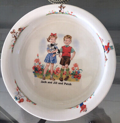 Beswick Baby Childs China Vintage Jack And Jill And Patch Feeding Bowl • 23£