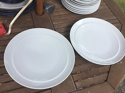 Denby White Dinner Plates 28cm Good Used Condition • 14.99£